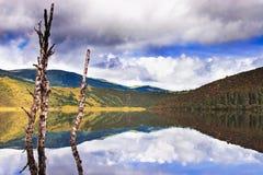 Shangri-La and lake Royalty Free Stock Images