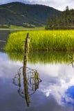 Shangri-La and lake Royalty Free Stock Photography