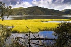 Shangri-La and lake Stock Photos
