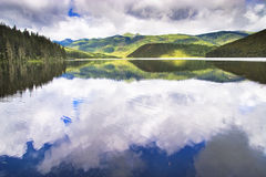 Shangri-La and lake Stock Image