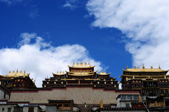 Shangri-La, Songzanlin-Tempel Lizenzfreie Stockfotos