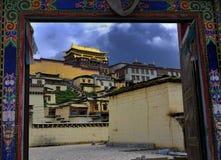 Shangri-La - tempiale di Songzanlin Immagini Stock Libere da Diritti