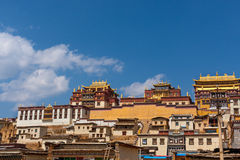 Shangrila的Ganden Sumtseling修道院,中国 免版税库存图片