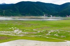 SHANGRILA, CHINE - 31 juillet 2014 : Lac Napa un paysage célèbre dedans Photo stock