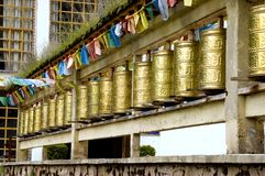 Shangrila - Glocken im Tempel Lizenzfreies Stockfoto