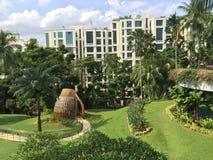 Shangrila Hotel, Singapore. Gardens at Shangrila Hotel, Singapore Royalty Free Stock Photos