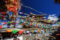 Shangrila, Yunnan, China en de plaats dichtbij Stock Fotografie