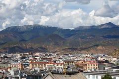 Shangrila, Yunnan, China en de plaats dichtbij royalty-vrije stock fotografie