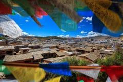 Shangrila, Yunnan, China en de plaats dichtbij royalty-vrije stock afbeeldingen