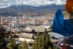 Shangrila, Yunnan, China en de plaats dichtbij Stock Afbeeldingen