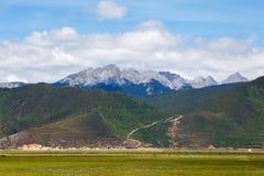 Shangrila, Yunnan, China en de plaats dichtbij Royalty-vrije Stock Afbeelding