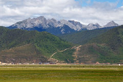 Shangrila, Yunnan, China en de plaats dichtbij Royalty-vrije Stock Foto