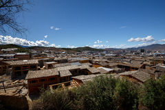 Shangrila, Yunnan, China and the place nearby. Stock Image
