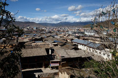 Shangrila, Yunnan, China and the place nearby. Stock Photo
