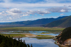Shangrila, Yunnan, China and the place nearby. June 2015 stock photography