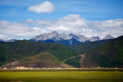 Shangrila, Yunnan, China and the place nearby. June 2015 royalty free stock photography