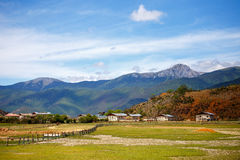 Shangrila, Yunnan, China and the place nearby. Royalty Free Stock Images