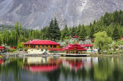 Shangrilla lake Skardu. Heaven on earth royalty free stock photos