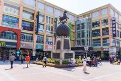 Shangxia jiu步行购物街道是主要购物街道在广州 库存图片