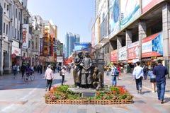 Shangxia jiu步行购物街道是主要购物街道在广州 免版税图库摄影