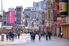Shangxia jiu zakupy zwyczajna ulica jest głównym zakupy ulicą w Guangzhou Obraz Royalty Free
