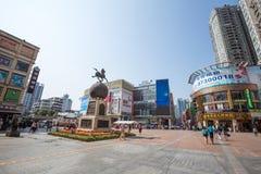 ShangXiaJiu in Canton Guangdong Cina Fotografie Stock