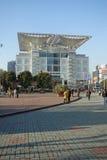 Shanhai centrerar den stads- planera utställningen royaltyfria bilder