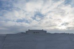 Shanhaiguan Great Wall of snow Stock Photo