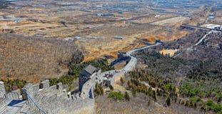 Shanhaiguan Pass at Great China Wall Royalty Free Stock Photography