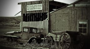 Shaniko Ghost Town ( tilt- shift black& weight ) Stock Images