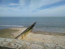 Shanklin του Isle of Wight θάλασσας άνοιξη Στοκ Εικόνες