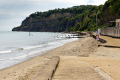 Shanklin beach Isle of Wight England UK, popular tourist and holiday location east coast of the island on Sandown Bay Stock Images