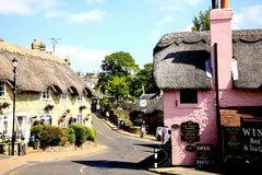 Shanklin, Isle of Wight. The old part of the town of Shanklin with the thatched roofs and charming tea gardens on the Isle of Wight, England, UK Stock Photo