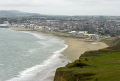 Shanklin plaża od falezy Zdjęcia Royalty Free
