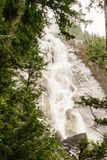 Shannon Falls near Squamish, BC, surrounded by trees. Stock Photos