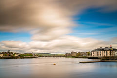 Shannon river in Limerick. View of the Shannon river and the King Johns Castle, Limerick, Ireland Royalty Free Stock Images