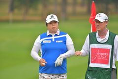 Shanshan Feng in Honda LPGA Thailand 2018. Shanshan Feng of China in Honda LPGA Thailand 2018 at Siam Country Club, Old Course on February 24, 2018 in Pattaya Royalty Free Stock Photo