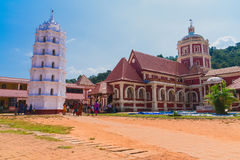 Shanta Durga Mandir. Is dedicated to Shantadurga Goddess. Shantadurga Goddess is the mediator in between Shiva and Vishnu. This Mandhir was constructed in 1738 Stock Image
