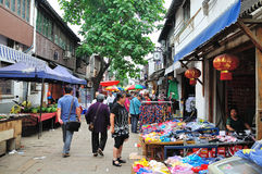 Shantang street at suzhou. The ancient city of Suzhou is the famous Jiangnan water, city water staggered in Hong Kong, street aspect, the late Tang Dynasty poet Stock Photography