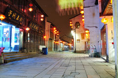Shantangjie Street night Stock Image
