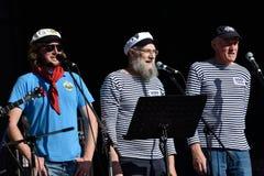 Shanti choir of the sailing ship Mir Stock Images