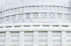 Shanti stupa和平寺庙新德里印度 图库摄影