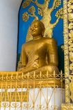 Shanti Stupa的细节在一个小山顶的在阿南达小山在博克拉 免版税图库摄影