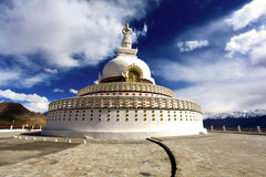 Shanti stupa. Situated in leh the capital of ladakh in India Stock Photos