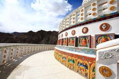 Shanti stupa. Situated in leh the capital of ladakh in India Royalty Free Stock Image