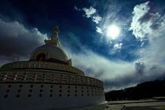 Shanti stupa Royalty Free Stock Images