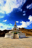 Shanti stupa. Situated in leh the capital of ladakh in India Stock Photo