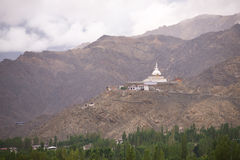 Shanti stupa Zdjęcie Stock