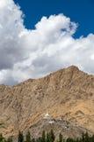 Shanti Stupa alto en Leh, Ladakh, la India Fotografía de archivo