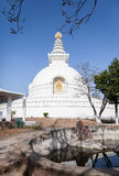 Shanti stupa - the Buddhist stupa of the peace. Royalty Free Stock Photos